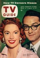 1954 TV Guide August 21-Dorothy McGuire; Beanie and Cecil; Jack Paar;Steve Allen