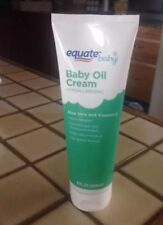 Equate Baby Creamy Oil Aloe Vera & Vitamin E 8oz great for mosquitoes 1 tube