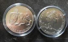 2 x Niue Czech Lion león 2017 + 2018 - 2 Oz onzas de plata 999-rar!