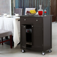 Rolling Storage Kitchen Trolley Cart Home Furniture With Drawer Cabinet Coffee