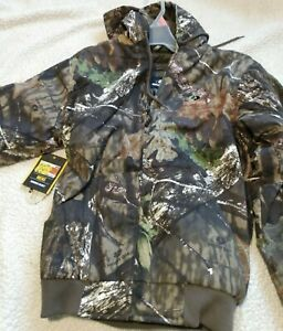 Mossy Oak Break Up Country Mens Bomber Jacket Coat Hood Insulated Camo Hunting S