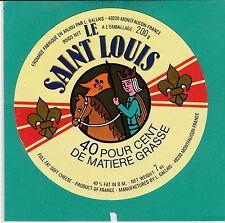 I714 FROMAGE LE SAINT LOUIS ET SON CHEVAL  L. GALLAIS  MONTFAUCON MAINE ET LOIRE