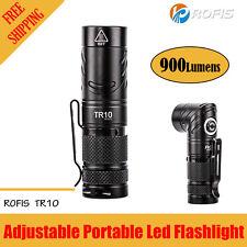 ROFIS TR10 900Lumen 90 Degree Head Rotation CREE XP-L HI V3 LED Flashlight 900LM