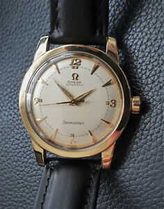 Vintage Swiss Omega Seamaster 'bumper' automatic watch,gold filled,351-2577,runs