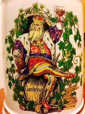 Rastal Ceramic Character Beer Stein King Gambrinus Germany 1999