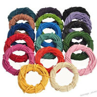 3M/10M Leather Cord String For Necklace Charms Bracelet Beading Jewelry Making
