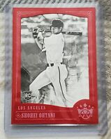 SHOHEI OHTANI 2018 Diamond Kings #76 ROOKIE VARIATION RED FRAME BLACK & WHITE RC