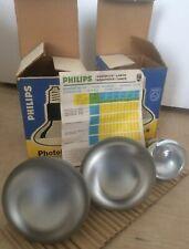2 x Philips Photolita 250 V 375 W E27 Typ PF215E/43 + Osram Concentra 240V 60W