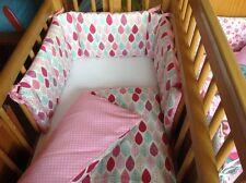 Cushi cot girls swing crib bumper and duvet set Summer leaves new