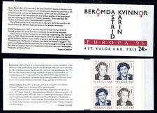 Sweden- 1996 Europa CEPT Booklet MNH**