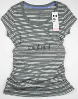 New Women's Maternity Clothes Gray Striped Shirt Top Liz Lange NWT size Small