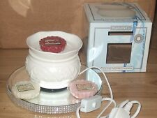 Ceramic Electric Wax Warmer/burner + 4 Yankee Candle Tarts melts