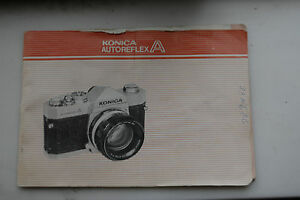 Konica AutoReflex A slr owner's manual