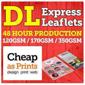 DL Leaflets & Flyer Colour Printing   100, 250, 500, 1000, 2500, 5000 from £13