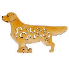 Golden retriever dog figurine, dog statue made of wood (MDF), hand-paint