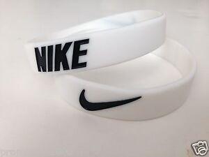 Nike Sport Baller Band Silicone White w/Black logo