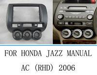 Car Stereo Radio Fascia Panel Frame For Honda Jazz Manual A/C RHD 2002-2008