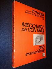 MECCANICA DEI CONTINUI-360 ESERCIZI RISOLTI-MASE-ETAS-COLLANA SCHAUM-G13-FL