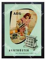 Historic Toaster. AEG 1950s Advertising Postcard
