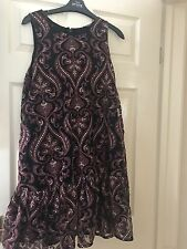 NEXT Petite Size 14 Embroidered Paisley Dress, Brand New with tags