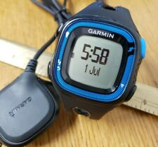 Garmin Forerunner 15 GPS Running Watch Black Blue With Charging Cable