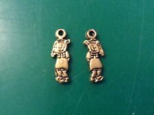 Gold Tone Cute GIRL Charms App 18mmx 6 MM X 20 Pack