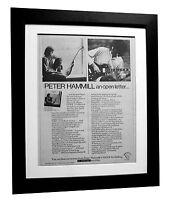 PETER HAMMILL+Over+ALBUM+POSTER+AD+FRAMED+RARE ORIGINAL 1977+EXPRESS GLOBAL SHIP