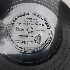 Disque souple Flexi La commune en chantant Magazine CFDT Syndicalisme