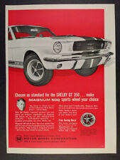1966 Magnum 500 Wheels Ford Shelby GT350 vintage print Ad