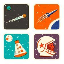 Cosmos Coasters - Set of Four