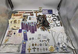 3.5 pound Grab Bag lot of Religious Items