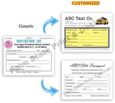 100 TAXI DRIVER LIMO SERVICE INVOICE RECEIPT QUOTE DUPLICATE COPY FORMS BOOK