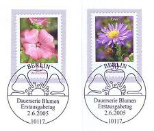 BRD 2005: malve e Aster n. 2462 e 2463 con i Berliner speciale timbri! 1a