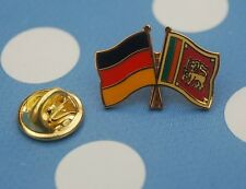 Freundschaftspin Deutschland Sri Lanka Pin Anstecker Badge Button Anstecknadel