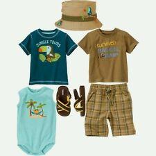 NWT Gymboree SAFARI Outfit 6-12 Month TOPS,TSHIRT,SHORTS,SANDALS,BODYSUIT,SUMMER