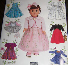 "DOLL clothes pattern 18"" fits American Girl ballet party fancy dress dresses"