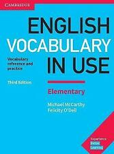 English Vocabulary in Use Elementary Book with Answers: Vocabulary Reference and Practice by Michael McCarthy, Felicity O'Dell (Paperback, 2017)