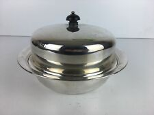 Vintage J D & S Silver Plate Metal Serving Plate / Tray With Lid Collectable