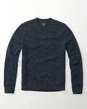 [NWT] Abercrombie & Fitch Mens Wool Crew Sweater Knit Blue Size M A&F