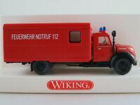 """Wiking 86111 Magirus Koffer-LKW (1956) """"FEUERWEHR"""" in rot 1:87/H0 NEU/OVP"""