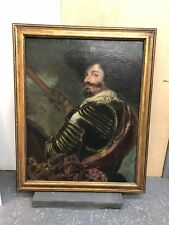 Oil on Canvas Portrait of Soldier Spain Velazquez 17th century European