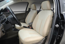 Car Seat Covers 2 Front Semi-Custom Fabric Compatible to Toyota 861 Tan