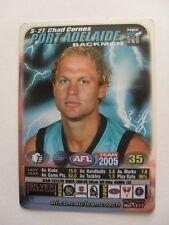 Port Adelaide Football Club Power Chad Cornes 2005 AFL TEAM COACH Silver Card