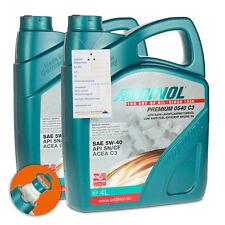 8 (2x4) Liter ADDINOL SAE 5W-40 Premium 0540 C3 Leichtlauf-Motorenöl