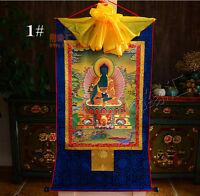 Tibetan  Medicine Buddha Print Silk Gild Thangka Thanka Bhaisajyaguru 85CM