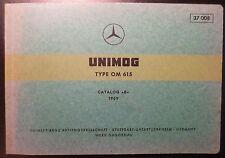 Mercedes Unimog Motoren OM615 Ersatzteilkatalog
