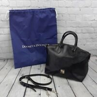 DOONEY & BOURKE Black Saffiano Leather Purse and Dust Cover