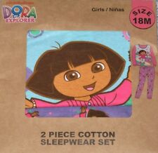 DORA the Explorer Girl 2 Piece Toddler Pajamas Size 18 Months NEW Long Sleeve