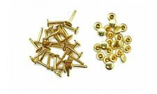 10mm X 18mm Extra Long Double Cap Rivets Metal Studs 50 Pack for Leather Crafts Gold