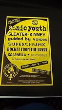 Genuine 1999 SONIC YOUTH W/ SUPER CHUNK Music Concert Poster Flyer Ad
